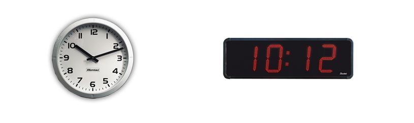 Venkovní ručičkové a digitální hodiny