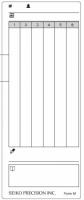 Docházková karta / docházkový lístek - typ M ( pro Z120)