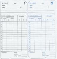 Docházková karta / docházkový lístek - SEIKO