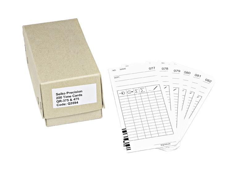 Docházkové karty VN   QR-395 / 375 / 475 - s čárovým kódem