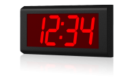 Interiérové digitální hodiny ZAS 10 L PoE