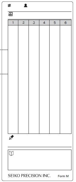 Jednostranná docházková karta pro hodiny Z120